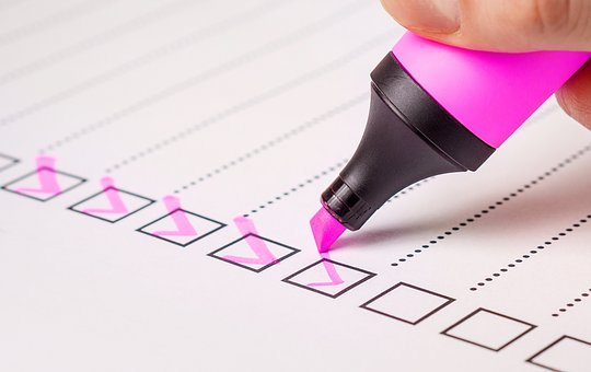 Checkliste - notat